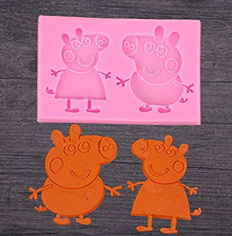 Amazon.com: Astra Gourmet Peppa y Brother George Pig Fondant ...
