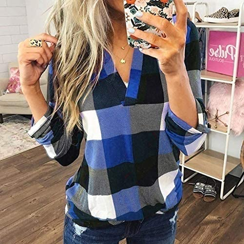 GAGA Mens Stylish Slim Fit Casual Flannel Plaid Checkered Long Sleeve Hooded Shirt Tops