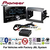 Volunteer Audio Pioneer MVH-S600BS Double Din Radio Install Kit with Bluetooth USB/AUX Fits 2004-2010 Toyota Sienna with Amplified System