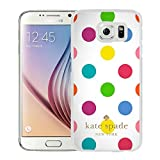 Luxurious And Nice Custom Designed Kate Spade Cover Case For Samsung Galaxy S6 White Phone Case 197