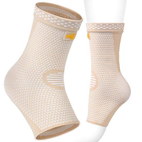 Ankle Brace Support Compression Sleeve Foot Support for Plantar Fasciitis | Achilles Tendonitis | Arch Heel Spurs-Pair Socks for Womens | Men | Kids |Best for (Best Pure Heel Supports)