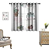 Curtains for Living Room Hand Drawn Vector Abstract Save The Date Greeting Card
