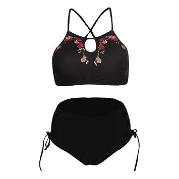 Traje de Bikini Verano para Mujer 💝💞 Yesmile Sujetador Push-Up Acolchado Mujer Bikini de Playa Impresión Sexy Traje de baño: Amazon.es: Hogar