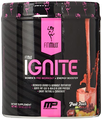 Fitmiss Ignite Pre-Workout Supplement, Fruit Punch, 7.93 oz