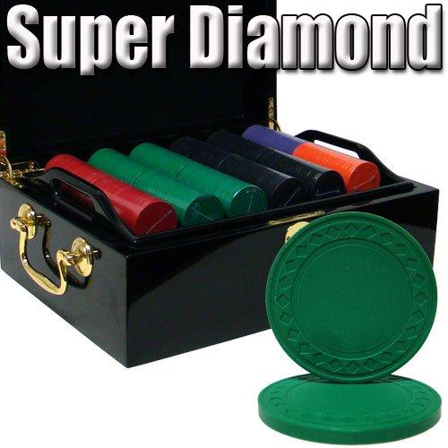 最先端 500 Ct Superダイヤモンド8.5 500 ChipセットW GramクレイPoker ChipセットW/ブラックMahogany木製ケース Ct B0031TRWE4, JI-RO インポートジュエリー:5f11d85b --- arianechie.dominiotemporario.com