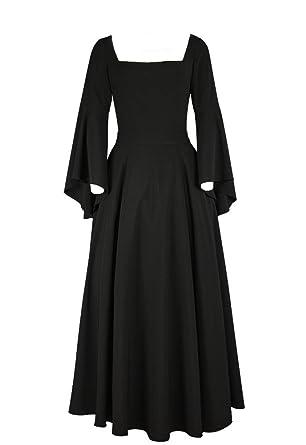Plus Size Black Long Gothic Renaissance Chiffon Dress 2x Size 20