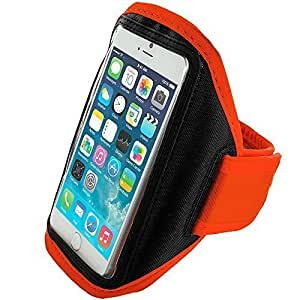 Accessory Planet(TM) Orange Gym Sports Running Armband Case for Apple iPhone 6 (4.7)