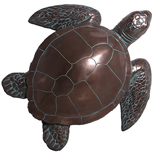 "Nautical Tropical Imports 28"" Bronze Finish Sea Turtle Wall Mount Large Sculpture"