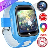 Kids Smart Watches Phone with GPS Locator Pedometer Waterproof IP67 Fitness Tracker Call SOS Voice Chat Camera Alarm Learning Games Smartwatch Toy Holiday Birthday Gifts for Kid Boys Girls Age 4-12
