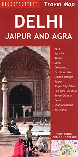 Delhi, Jaipur and Agra Travel Map (Globetrotter Travel Map)