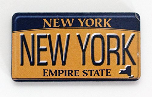 New York License Plate Wood Fridge Magnet 3