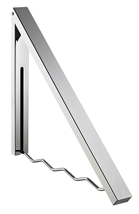Alco 2870 - Perchero de Pared, Plegable, Metal, Plata, 58 x ...