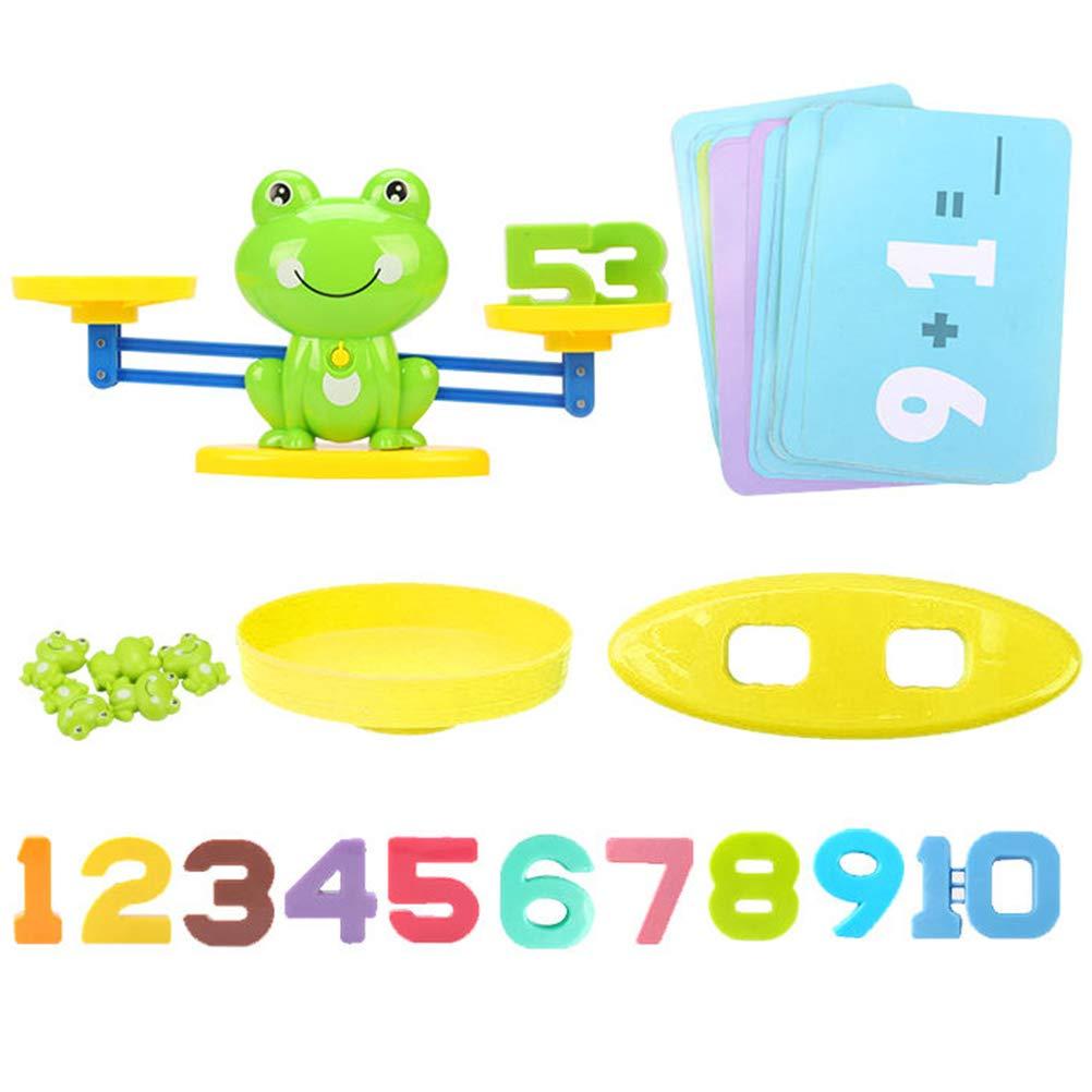 Bogeger Frosch Balance Waage Math Game Niedliche Form Kinder Aufkl/ärung Digitale Addition Und Subtraktion Math Waage Puzzle Spielzeug F/ür Digital Lernen gr/ün Z/ählen Gleichgewicht