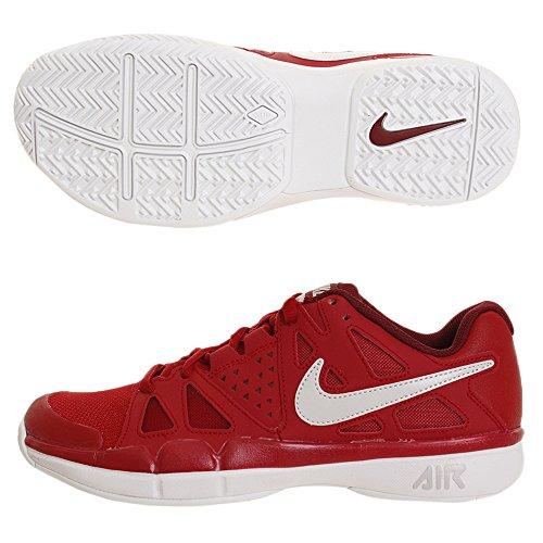 Nike Mens Luftånga Fördel Tennisskor Gym Röd / Vast Grå / Vit / Lag Röd