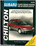 UCH64302 Used Subaru Brat Impreza Justy Legacy Loyale Outback Sedan Std SVX Wagon XT XT-6 1985-1996 Repair Manual
