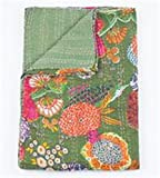 Fruit Blanket - 2 Layer 100% Organic Cotton (Twin, Green #2)