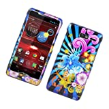 droid razr m protective case - Eagle Cell PIMOTXT907G2D170 Stylish Hard Snap-On Protective Case for Motorola Droid RAZR M XT907 - Retail Packaging - Colorful Fireworks