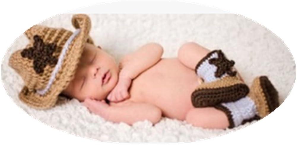 Newborn Baby Flower Crochet Knitted Hat Set Photo Costume Photography Props Set