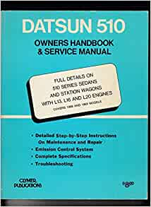 Datsun 510 Owners Handbook Amp Service Manual 510 Series border=