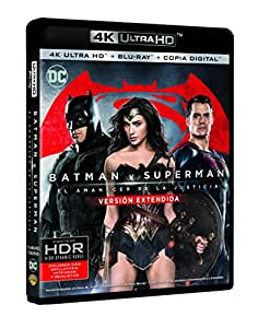 Batman V Superman: El Amanecer De La Justicia  (4K Ultra HD+ Blu-Ray + Copia Digital) [Blu-ray]