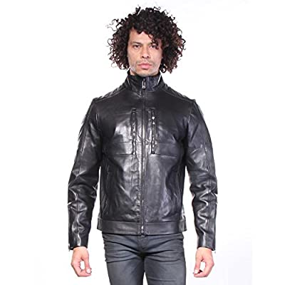 Calvin Klein Men's Premium Perforated Leather Moto Jacket