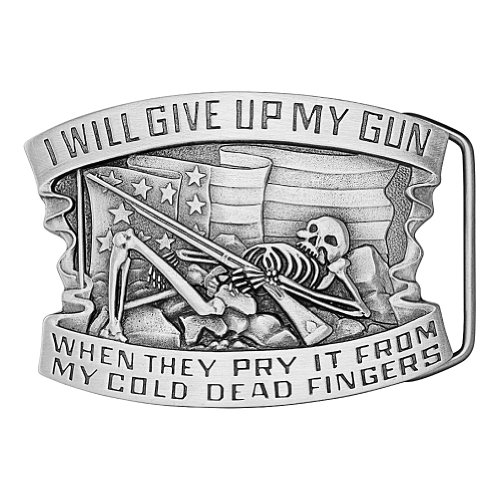 I will give up my Gun when they pry it from my cold Dead Fingers' Skeleton Belt Buckle 02-XR96 IMC-Retail - Imc Replacement