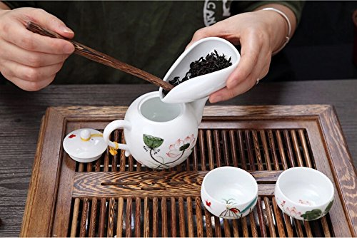 Funnytoday365 White Porcelain Cha He Tea Presentation Vessel Kung Fu Tea Accessories by FunnyToday365 (Image #3)