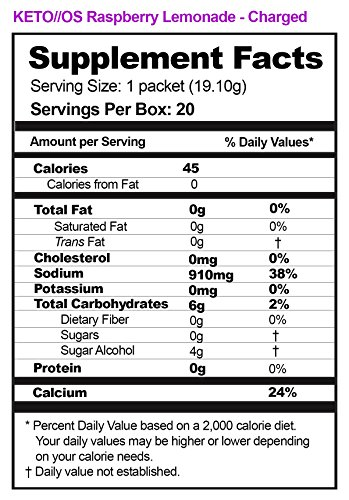 KETO//OS MAX Raspberry Lemonade CHARGED N8tive Series - BHB Beta Hydroxybutyrates Exogenous Ketones Supplements for Fat Loss, Workout Energy Boost and Weight Management through Fast Ketosis, 7 Sachets by Pruvit (Image #1)