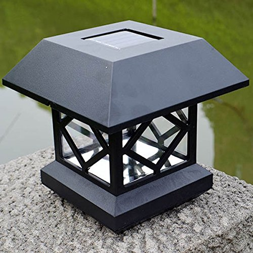 Pink Lizard 1.2V Garden Lawn Solar White LED Pillar Lamp Outdoor Cottage Courtyard Fence Light