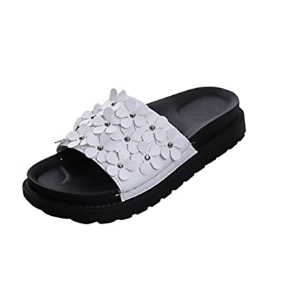 Alonea Women Fashion Beach Shoes Flower Flat Sandals Slip Resistant Slippers Sandal