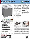 Dahle 50514 Oil-Free Paper Shredder w/Jam