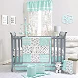 Mint Green Southwest Patchwork 5 Piece Crib Bedding Set by The Peanut Shell