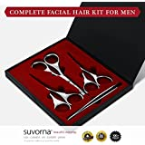 Suvorna Skinpal Men's Grooming Facial Hair Removal Kit, Polished Steel
