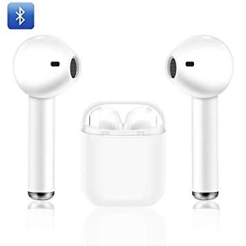 Auriculares inalámbricos Bluetooth Modelo I8X Mini. | Mejoras en Calidad de Sonido y duración de batería | Micrófono Incorporado y Estuche de Carga ...