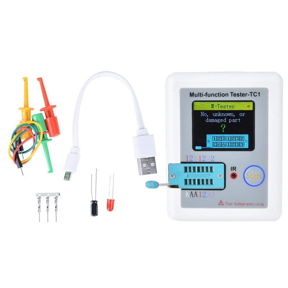 Nitrip Port/átil Multifunci/ón Pantalla gr/áfica a todo color Diodo Triodo Condensador Transistor Tester