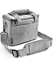 FOSOTO Padded Camera Case Shockproof Shoulder Bag with Extra Rain Cover Compatible with for Nikon, Canon, Sony, Panasonic, Olympus Insert Camera Case for DSLR SLR Camera Lens