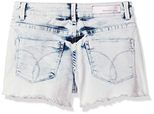 Calvin Klein Big Girls' Denim Short, Bleachout, 7 by Calvin Klein (Image #2)