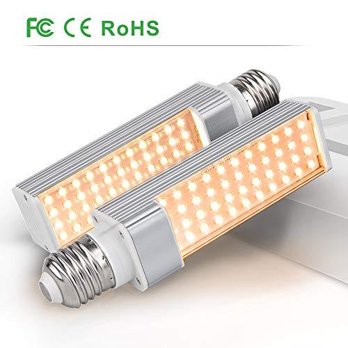 LED Grow Light Bulbs for Indoor Plant, Relassy Full Spectrum Grow Lamp Bulbs, 2PCS Plant Lights' Replaceable Bulb, 88 LEDs ()