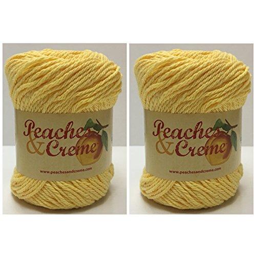 - Peaches & Creme Cotton Yarn Sunshine (Yellow) - 2 Pack