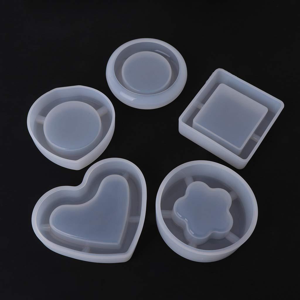 Kcibyvx moldes de Silicona para regar Formas DIY geom/étricas Resina Colgante Espejo artesan/ía cenicero Joyas Hacer