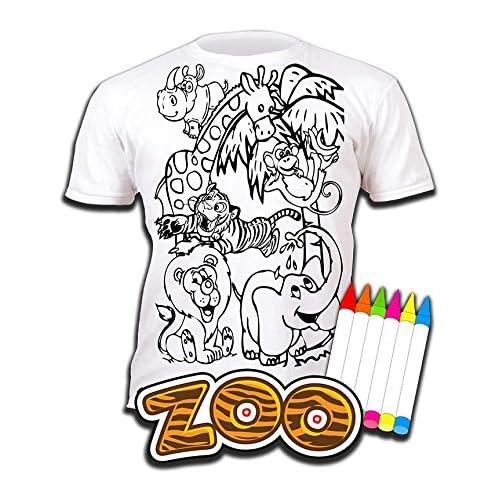 Camiseta ZOO y animales del zoo para niños y niñas. Con impresión ...