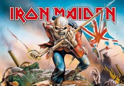 Iron Maiden Trooper Poster Black Framed Ready To Hang Frame Free P/&P