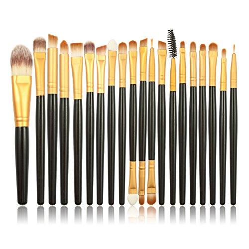 Professional 20 Pcs Makeup Brushes Set Powder Foundation Eyeshadow Eyeliner Lip Cosmetic Makeup Brushes (Maquiagem De Vampira Halloween)