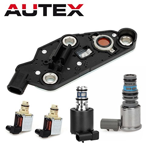 AUTEX 4T65E Automatic Transmission Master Shift EPC TCC & PWM Downshift Solenoid Manifold Pressure Switch Buick Chevrolet 2003-UP - Kickdown Solenoid
