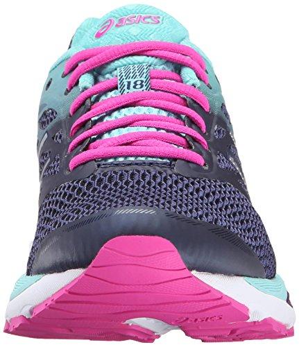 Envío gratuito Footaction ¿Cuánto Venta? Gel Asics Cúmulo De Las Mujeres 18 Corriendo Añil Zapato Azul / Plata / Resplandor Rosado J8WXS7