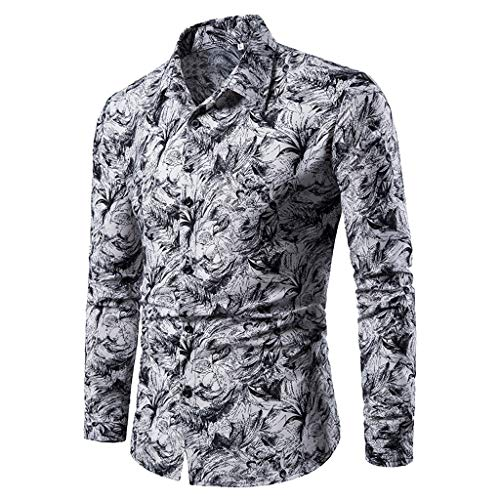 iHPH7 Dress Shirt Long Sleeve Button Down Casual
