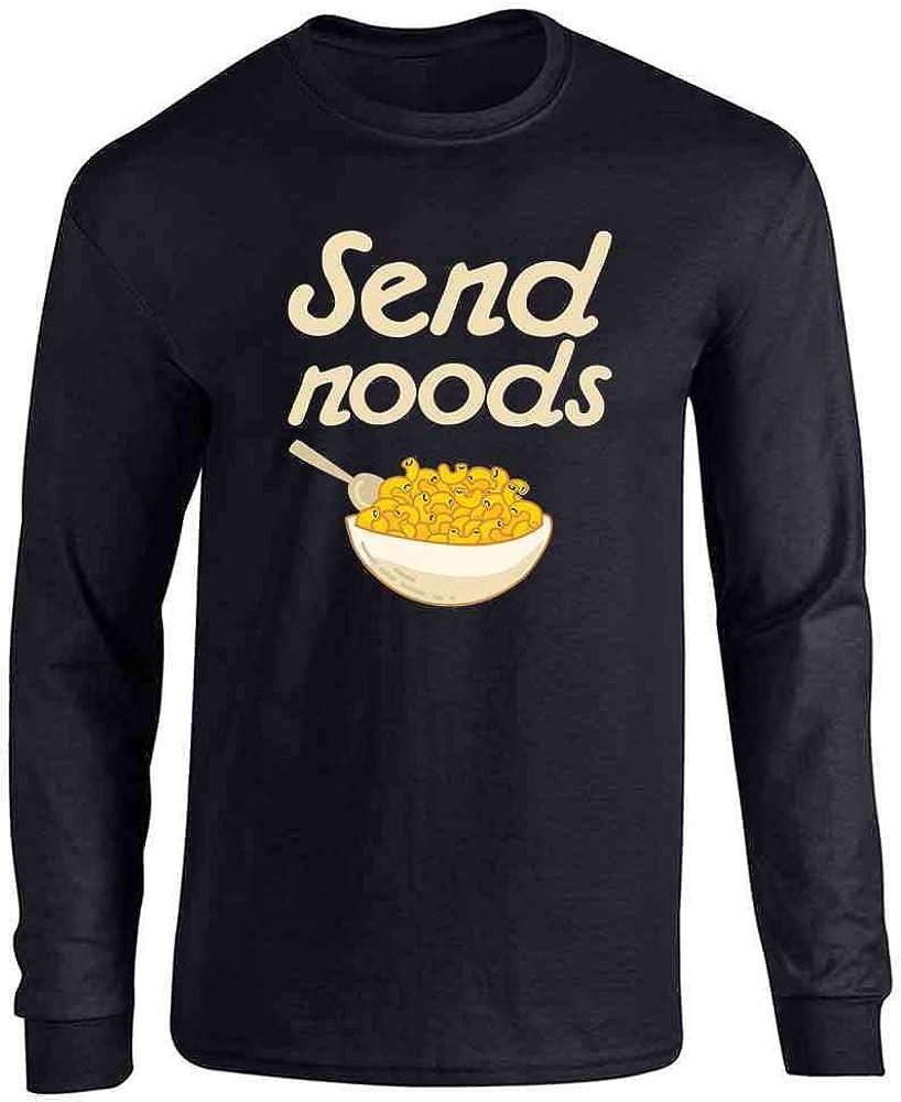 Pop Threads Send Noods Food Pun Noodles Pun Full Long Sleeve Tee T-Shirt