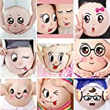 Spritech(TM) Interesting and Lovely Belly Stickers Security Animated Cartoon Belly Photo Stickers for Pregnant Women Expecting Parents Studio