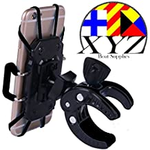 XYZ Boat Supplies® Cell Phone Mount/ Holder for Motorcycle / Bike Handlebars/ Boat, Iphone, Samsung, Smart Phone...