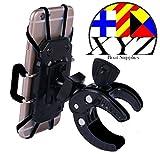 XYZ Boat Supplies® Cubicle Phone Mount/ Holder for Motorcycle / Bike Handlebars/ Boat, Iphone, Samsung, Smart Phone, Lifetime Warranty (Ebon)